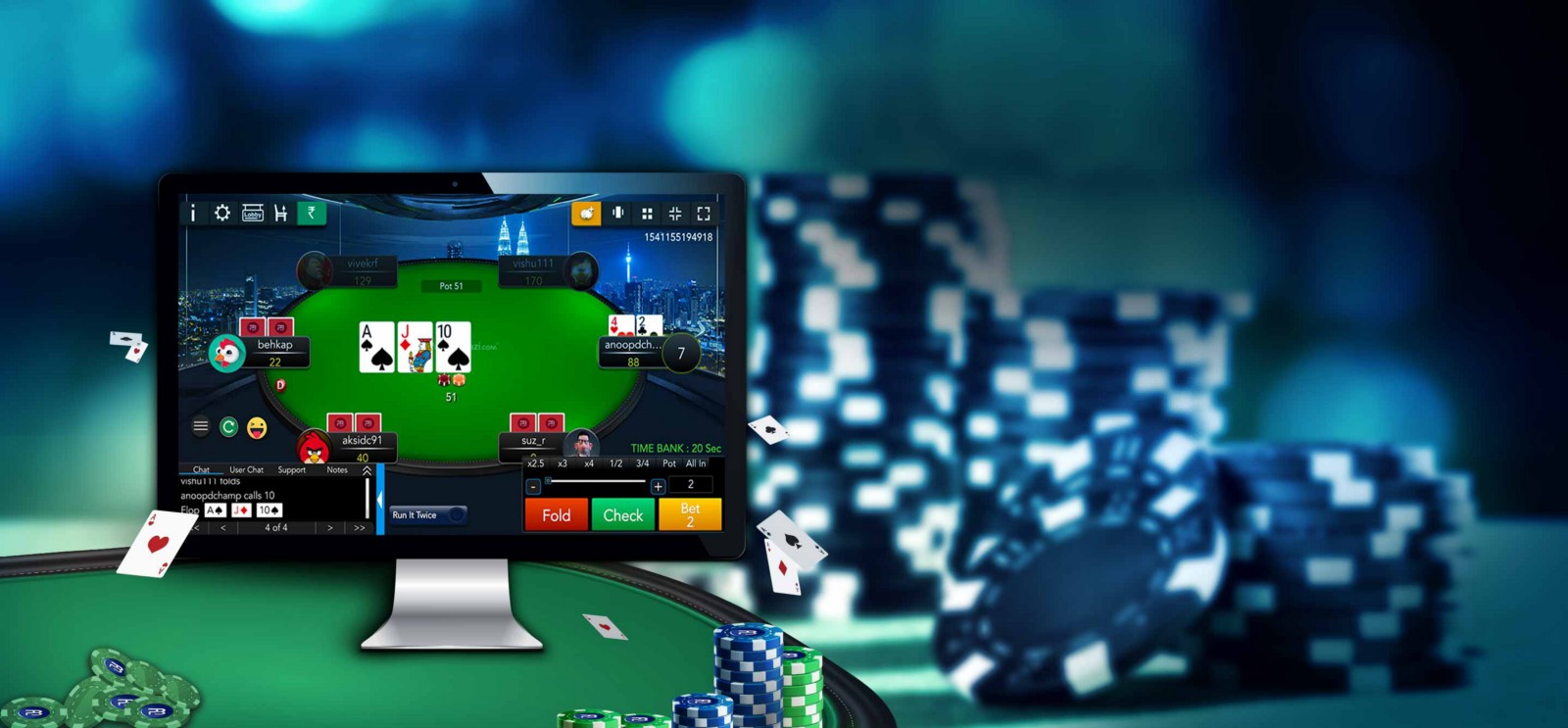 Online Poker Holy Cow Thinks